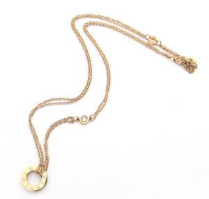 Europa und den Vereinigten Staaten verkauft LIEBE Halskette Schraube Diamantring Roségold zweifarbige Halskette drei Farben