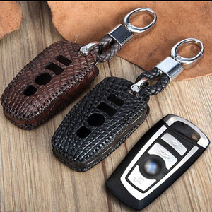 Toptan lüks timsah araba anahtarı çanta Mercedes BMW Volkswagen Toyota anahtar yüzükler Deri araba marka anahtarlık erkekler çanta