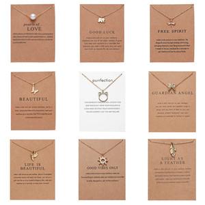 Klassische Mode Freundschaft Bar Halskette glücklicher Elefant-Stern-Perle Kreis hängende Halskette für Frauen-Geschenk-Karte