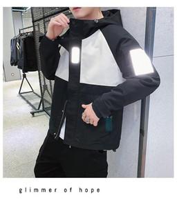 İlkbahar Sonbahar Casual Gevşek Kapşonlu Ceketler Coats 19ss Erkek Tasarımcı 3M Yansıtıcı Ceket