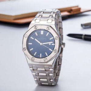 Promoção Venda de Moda Mens Luxo Assista teel Top offshore Quartz Movimento Azul Dial Mens Designer De Luxo Relógio Royal Oak Clock