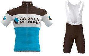 2020 Ag2r Pro Team Cycling Jersey Uomini manica corta biciclette abbigliamento con Salopette Quick-Dry di guida del ciclista Ropa Ciclismo