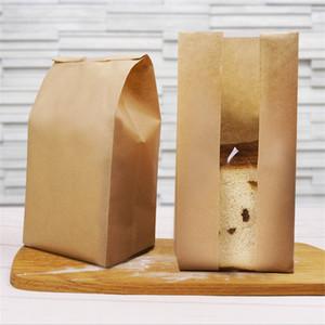 50 piezas de Petróleo papel a prueba de ventana transparente bolsa para hornear pan tostado bolsos del embalaje