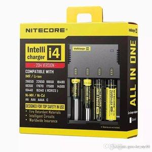 201984 2019 Original Nitecore I4 carregador Universal e cigs cigarros eletrônicos carregador de bateria para 18650 18500 26650 I2 D2 D4