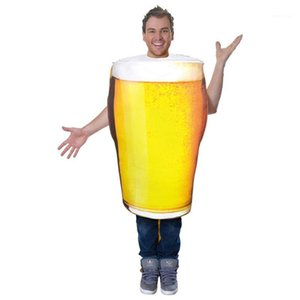 Adult Dancing Party Stagewear Mens Mascot Costumes Beer Glass Costume Accessories Halloween Props
