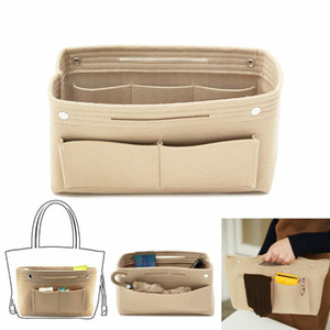 Mulheres Inserir Handbag Organizer Bolsa forro de feltro Organizador Travel Bag Tidy