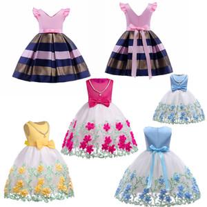 Novas Floristas veste bebê meninas diário traje casual Ocasião Pageant Partido Vestidos Crianças Especial tutu vestido com colar removível