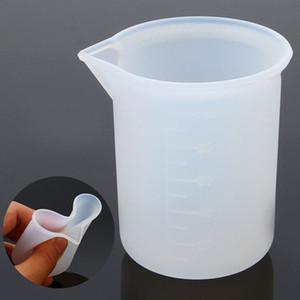 10pcs de silicona 100ml Recipiente para medir for Joyería Cristal Resina Escala pegamento Moldes accesorios de cocina envío