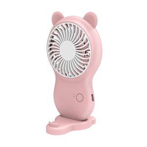 L'air de refroidissement portable ventilateur USB portable rechargeable Petit cadeau Ventilateur 3 Vitesse bureau personnel Ventilateur de table pour la maison et le bureau extérieur Pocket Style