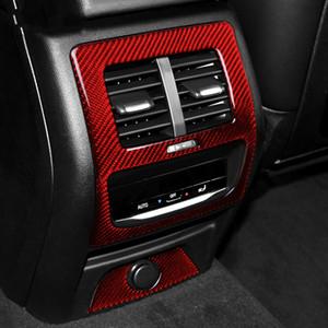 Marco posterior del coche Condición de salida del aire de ventilación Ajuste de la cubierta apoyabrazos trasero de fibra de carbono caja de moldeo interior de BMW G01 G02 2019 ~ X3 X4