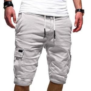 Zacoo Hommes décontracté Fit multi-poches Pantalon de longueur moyenne