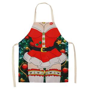 6 تصاميم النساء مآزر عيد المطبخ الشواء القطن المآزر للبالغين عيد الميلاد الديكور لوازم أدوات المطبخ