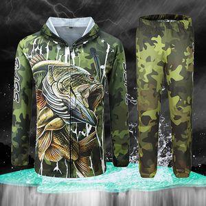 Одежда M-4XL профессиональная рыболовная одежда анти-УФ подледная рыбалка с капюшоном комплект одежды защита от Солнца рубашка с длинным рукавом камуфляжные брюки