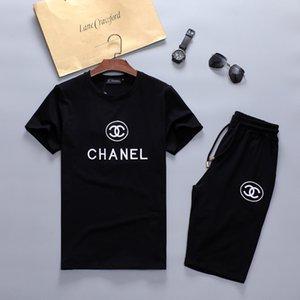 2020 summer Sweatshirt Luxury Designer Jogging Suit Men Running Tracksuits Mens Short Sleeve Tshirts Pants Fashion Jogger sweat track suits7