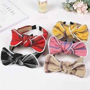 Simple fashion cloth bow tie headband comfortable face wash hair band accessories with headband multicolor headwear wholesale