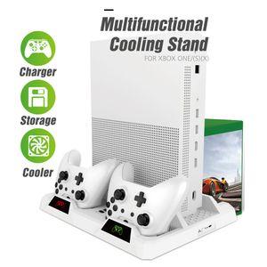 OIVO Dual-Controller-Ladestation Station für Xbox ONE Kühl Vertical Stand Spiele Speicher-Ladegerät für Xbox ONE / S / X-Konsole