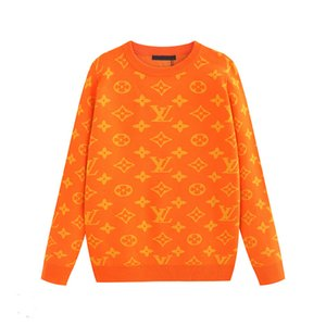 2019New high quality hot sweater pullover jacquard knit geometric pattern label round neck sweater pullover sweater male code M-3XL