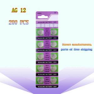 200 PCS Factory Price Wholesale LR43 AG12 Alkaline Button Battery 386A SR43 186 LR1142 1.55V Electronic Battery for Watch Toys Part