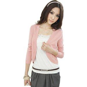 Pop 2019 Shawl Summer Cardigan mujeres delgado cintura delgado suéter de manga corta de punto chaqueta corta aire acondicionado Vestidos LXJ223