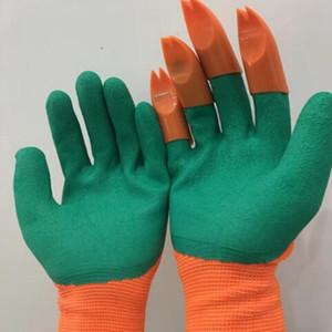 Guantes de jardín Genie con los dedos garras Fácil de excavación Guantes seguro de la planta de poda prueba del agua de la playa de protección manoplas ZZA1926