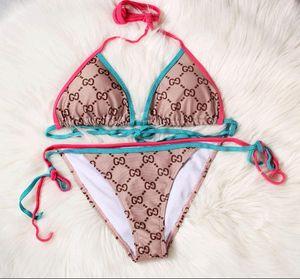 Летний пляж бикини набор 3D цветочный дизайн купальники для женщин Холтер шеи купальный костюм пляжная одежда сексуальная леди купальник бюстгальтер бикини