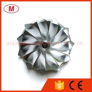 T25 445436-0007 47.19/60.13 mm 11+0 lame prestazioni Turbo billet compressore ruota / alluminio 2618 / fresatura ruota per turbocharge cartuccia