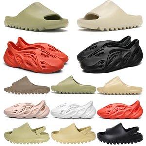 New Stock X Kanye West Slide Foam Läufer Damen Herren Hausschuhe Designer Kinder Kinderschuhe Knochen Harz Desert Sand Earth Brown Zehensandale