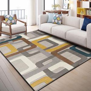 Tapis de plancher de plancher géométrique de style nordique pour salle de séjour