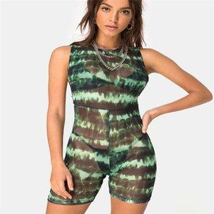 Womens Holiday Mini Leopard Playsuit Mesdames Jumpsuit Summer Beach shorts Pantalons Jumpsuit d'été 810