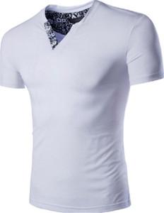 T Shirt Casual Sólidos Triângulo Invertido roupas de verão Moda respirável Adolescente Masculino Tops Designer magro dos homens