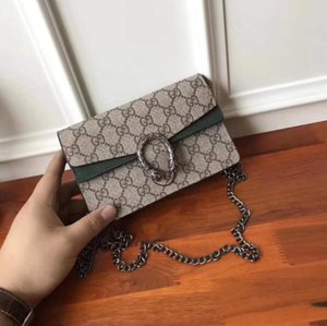 2020Q Designer Frauen Handtaschen diagonale Schulterbeutel Totes Handtasche 6 Farben Ketten Riemen Handtaschen mit Tags Portemonnaies GRÖSSE 14 * 21 * 6