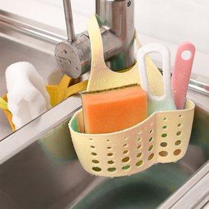 Kitchen Sink Sponge Storage Hanging Basket Adjustable Snap Button Type Drain Rack Faucet Storage Baskets d2