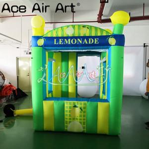 Cabina de promoción inflable grande popular soporte de limón inflable para alquiler, publicidad, eventos