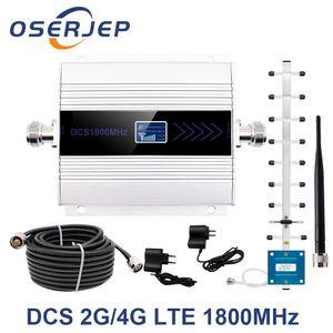 Repetidor GSM 1800Mhz 4G señal celular RepeaterCell amplificador de la señal de refuerzo DCS 1800 móvil de la señal del teléfono amplificador de antena + T200608
