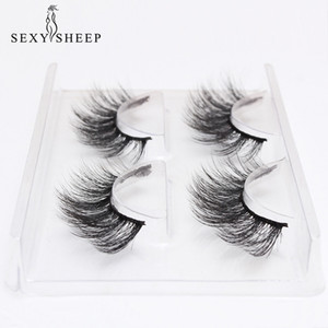 SEXYSHEEP 2 paires de faux cils kit naturel faux cils maquillage cils 3D Mink cils cils de vison d'extension Maquiagem