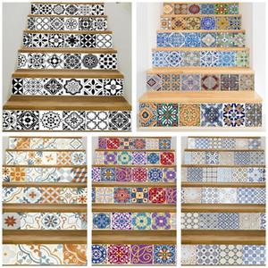 17 conception Carrelage Mosaïque MUR Escalier Autocollants Auto-Adhésif Étanche PVC Wall Sticker Cuisine En Céramique Autocollants Décoration De La Maison