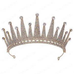 Handgemachte Braut Tiara Voll Strass verziert Diadema-Art-Geburtstags-Party Crown Schmuck Frauen Wedding Haar Accessorie