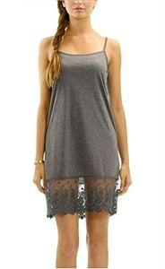 Solide Knit Full Lace Slip Melody Women Dress - Jupe Extender