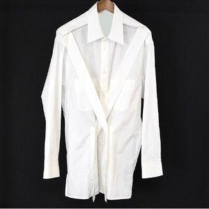 Бесплатная доставка 2019 Новый Yohji рубашки Мода Назад Ремень показать Рубашка yamamoto йоши на заказ из чистого хлопка Рубашки S-6XL Плюс Размер мужской одежды