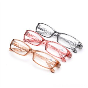 Transparent Reading Glasses Women PC Stripe frame Spectacles 2.5 3.0 Resin Other Fashion Accessories Lens Reading Glass Men