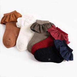 HOT-Kind-Kind-BABY-SOCKS NEWBORN KNÖCHEL 100% Baumwolle FLOWEAR SOLID SOCKS 2-8Y CASUAL
