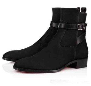 Sapatos de alta qualidade Red inferior Homens Causal nuas botas de alta homens top marca de moda Women Flat botas Cavaleiro Confortável Moda Luxo