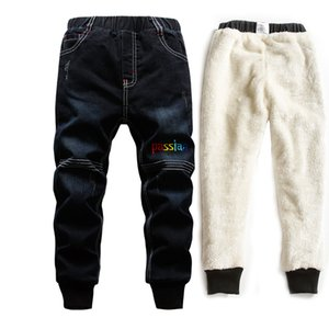 Fashion New Toddler Boy Jeans Winter Add Wool Warm Denim Trousers Teenage Washing Blue Jeans Boys Clothes 6 Years Velvet Pants