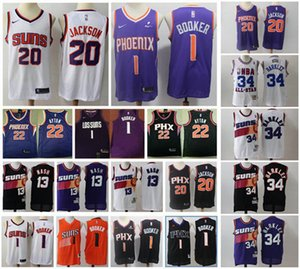 Mens Devin 1 Booker 34 Charles Barkley 13 Steve Nash PhoenixSunsAyton 20# Josh Jacksonnba Basketball Jerseys White Black