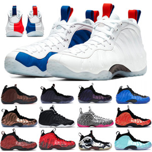 Top mousses Knicks posite un chaussures de basket-ball pro hommes USA blanc noir ALTERNATE GALAXY pourpre Camo Pennt Hardaway Sport baskets en cours d'exécution