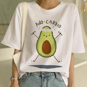 para mujer diseñador de camisetas de la ropa camisetas aguacate camiseta vegetariana criada Harajuku de dibujos animados de manga corta impresa aguacate hecho en China