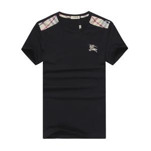 Qualidade superior T Shirts Moda Impresso TShirt Marca Festa de Verão # 6002 Homens Pullover T-shirt de Algodão de Manga Longa de Fitness Casual Magro Tee