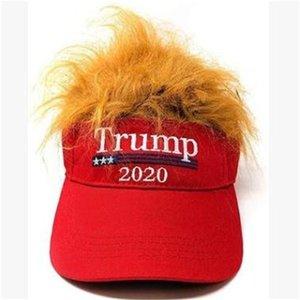 Presidente USA 2020 Cappelli Trump capelli del cappello giallo cappello da baseball Elezione Cap Unisex Uso Quotidiano Podismo Ciclismo 15dk H1