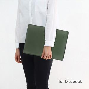 New 2020 PU-Leder-Laptop-Kasten-Abdeckung für Macbook Air Pro 11.6 13.3 15.6 Zoll Computer Schutzhülle