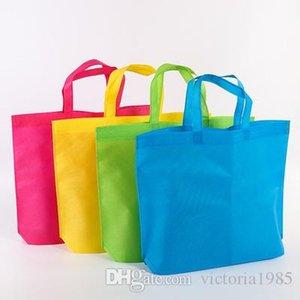 Donne di stoffa drogheria grande shopping shopping tote borse non tessute borse a spalla sacchetti sacchetti sacchetti 36 * 45cm sacchetto unisex riutilizzabile pieghevole eco Ganbu MMPNM
